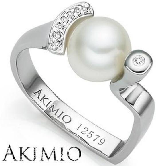1bbe40732 AKIMIO Jewelry | Pearl Earrings Ring | Poshmark